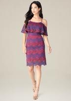 Bebe Striped Lace Dress