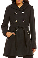 Jessica Simpson Double Breasted Wool Belted Trenchcoat