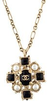 Chanel Pearl Embellished Pendant Necklace