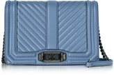 Rebecca Minkoff Azure Chevron Quilted Leather Small Love Crossbody Bag