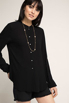 Esprit OUTLET flower and pearl chain necklace