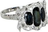 One Kings Lane Vintage Sapphire & Diamond Platinum Ring