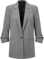 Miss Selfridge Petites Dogtooth Check Blazer