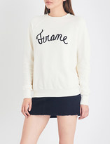 Frame Old School embroidered-detail cotton-jersey sweatshirt