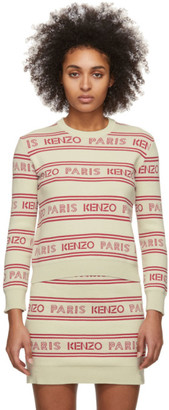 Kenzo Off-White All-Over Logo Sweater