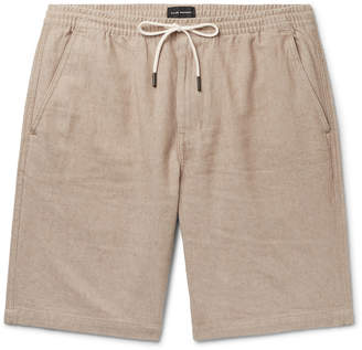 Club Monaco Slim-Fit Linen And Cotton-Blend Twill Drawstring Shorts