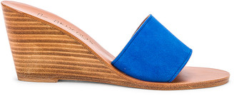 K. Jacques Bianca Wedge in Velours Auto   FWRD