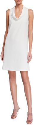 Trina Turk Naples Cowl-Neck Sleeveless Dress