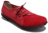 Lebe Women's Boat Shoes Red - Red Asymmetric-Eyelet Suede-Toe Leather Oxford - Women