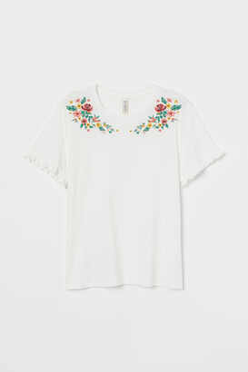 H&M Embroidery-embellished Top
