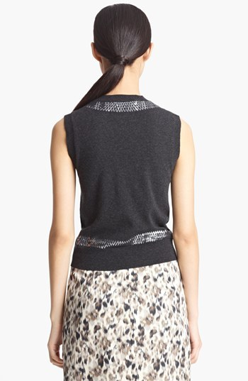 Marc Jacobs Sequin Embroidered Cashmere Shell