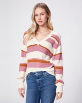 Paige NEGIN SWEATER-PINK GOLD STRIPE