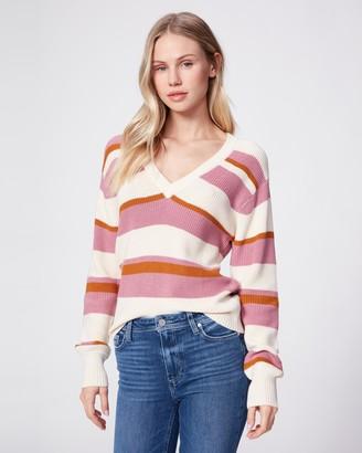 Paige Negin Sweater-Pink Gold Stripe