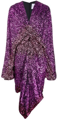 Halpern Degrade sequin dress