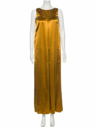 Co Silk Long Dress Yellow