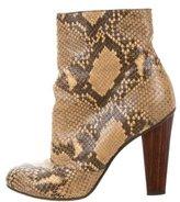 Dries Van Noten Python Ankle Boots