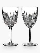 Waterford Lismore Diamond Cut Lead Crystal Wine Glasses, Set of 2