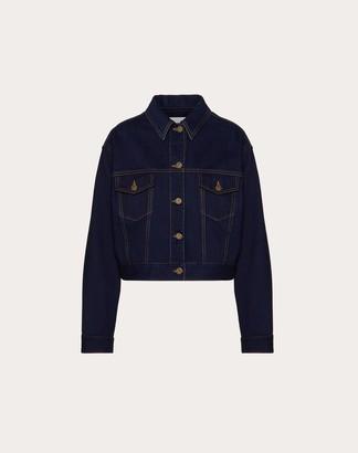 Valentino Dark Denim Vgold Jacket Women Dark Denim Cotton 100% 40