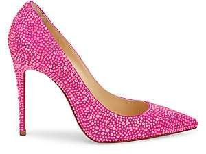 Christian Louboutin Women's Kate Strass Leather Pumps