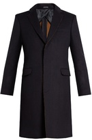 Alexander McQueen Frayed-edge single-breasted coat