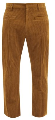 BED J.W. FORD Cropped Wool-blend Corduroy Trousers - Brown