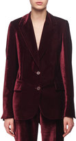 Stella McCartney Velvet Two-Button Blazer