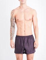 Ermenegildo Zegna Wanderlust geometric-print silk boxer shorts