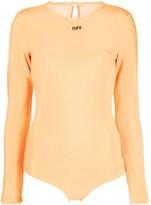 Off-White Off White logo print bodysuit