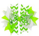 FEITONG Baby Girls Bowknot Hairpin Headdress (Green)
