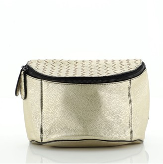 Bottega Veneta Top Zip Waist Bag Leather with Intrecciato