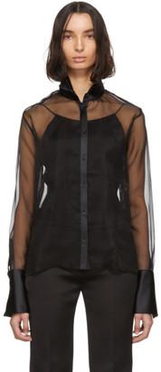 GAUGE81 Black Organza Rio Tuxedo Shirt
