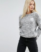 adidas Three Stripe Chunky Knitted Sweater
