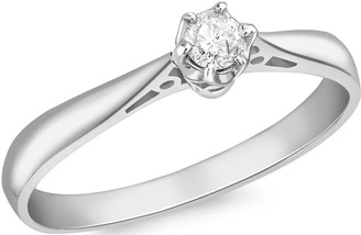 Love Gold 18ct White Gold 10pt Diamond Solitaire Ring