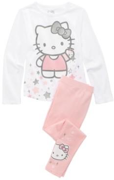 Hello Kitty Little Girls 2-Pc. T-Shirt & Leggings Set