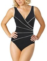 Miraclesuit Ladies' Swimsuit - Black & White