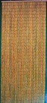 Natural Bamboo Beaded Curtain 125 Strands (+hanging hardware)