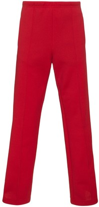 Maison Margiela Red striped cotton track pants