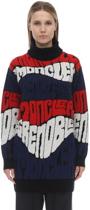 Moncler Wool & Cashmere Jacquard Sweater