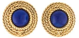 Chanel Resin Clip-On Earrings