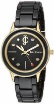 Juicy Couture Black Label Women's Gold-Tone and Black Ceramic Bracelet Watch