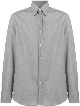 Brunello Cucinelli Button-Collar Chambray Shirt