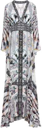 Camilla In Her Shoes Embellished Printed Silk Crepe De Chine Maxi Dress