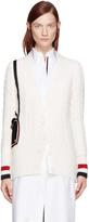 Thom Browne White Shoulder Bag Cardigan