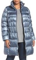 Bernardo Plus Size Women's Packable Down & Primaloft Fill Coat