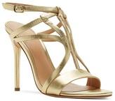 Halston Karla Strappy Metallic High Heel Sandals