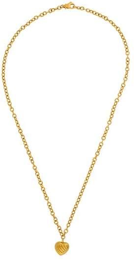 David Yurman 18K Yellow Gold Cable Heart Pendant Necklace