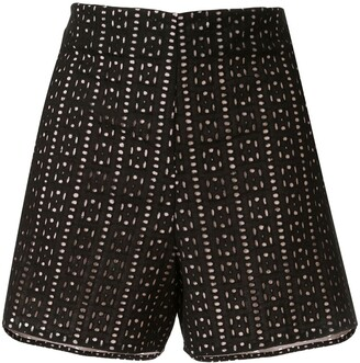 Leal Daccarett Coliseo broderie anglaise shorts