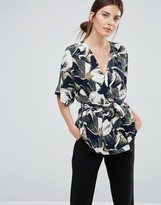 Just Female Blossom Wrap Blouse