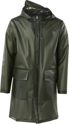 Rains Foggy Green TPU Waterproof Unisex Hooded Coat - XXS/XS