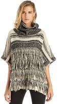 Sole Society Fringe Stripe Poncho